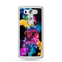 Etui na LG G3 Kolorowe kwiaty