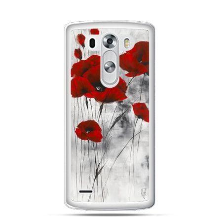 Etui na telefon  LG G3 Czerwone maki