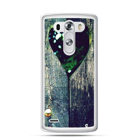 Etui na LG G3 Drewniane serce
