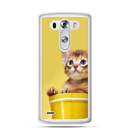 Etui na LG G3 Kot w doniczce