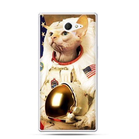 Sony Xperia M2 etui kot astronauta