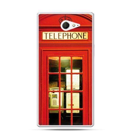Sony Xperia M2 etui czerwona budka telefoniczna