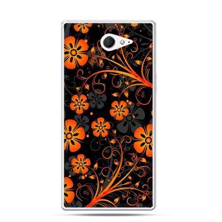 Sony Xperia M2 etui nocne kwiaty