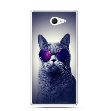 Sony Xperia M2 etui kot w okularach