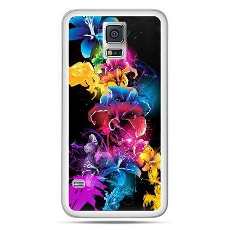 Galaxy S5 Neo etui kolorowe kwiaty