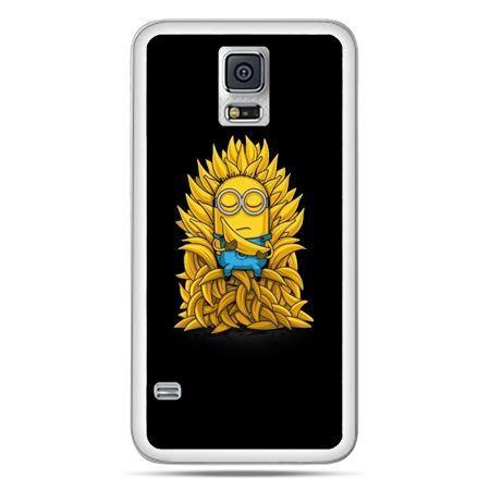 Galaxy S5 Neo etui Minionek na tronie ,minionki