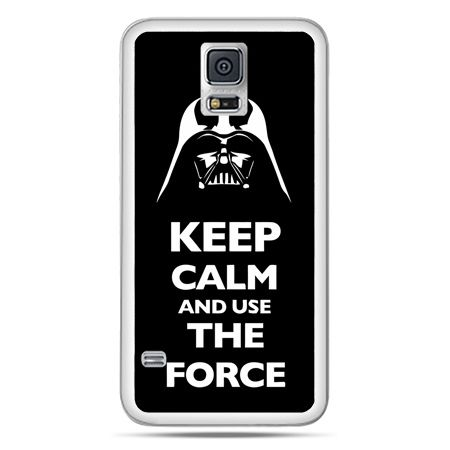 Galaxy S5 Neo etui Keep calm and use the force