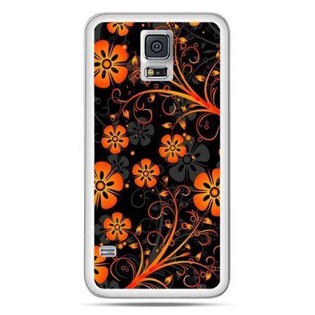 Galaxy S5 Neo etui nocne kwiaty