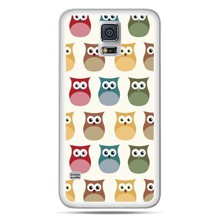 Galaxy S5 Neo etui kolorowe sowy