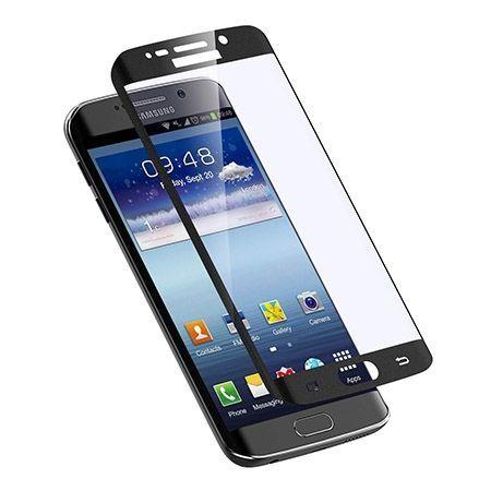 Galaxy S6 Edge Plus Czarne Hartowane szkło na cały ekran