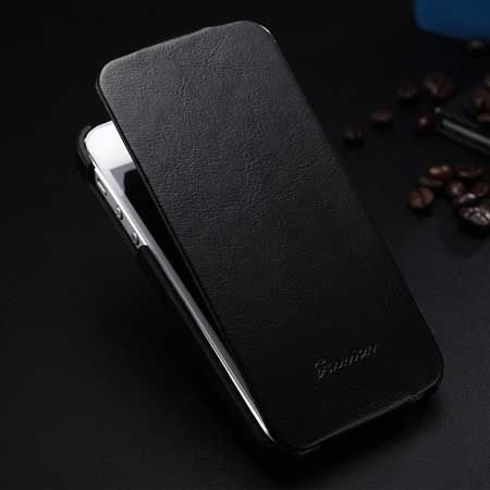 iPhone 6, 6s etui skórzane z klapką czarne