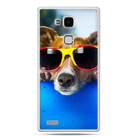 Etui na Huawei Mate 7 pies w kolorowych okularach