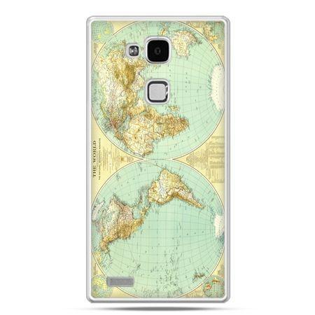 Etui na Huawei Mate 7 mapa świata