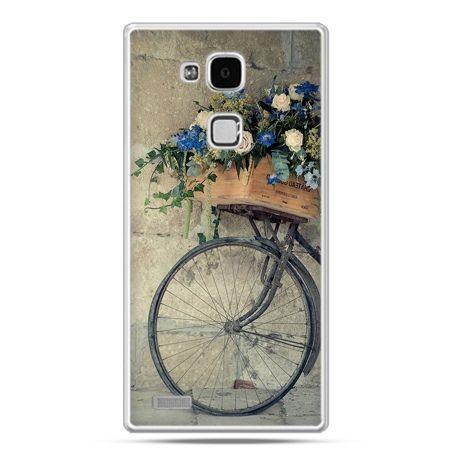 Etui na Huawei Mate 7 rower z kwiatami