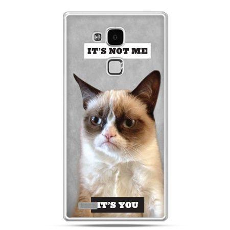 Etui na Huawei Mate 7 grumpy kot zrzęda