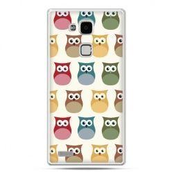 Etui na Huawei Mate 7 kolorowe sowy