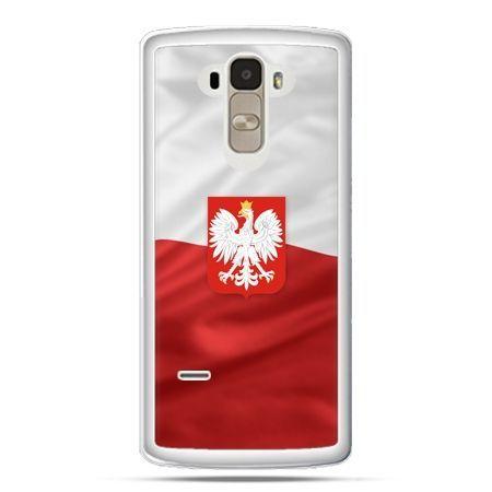 Etui na telefon LG G4 Stylus patriotyczne - flaga Polski z godłem