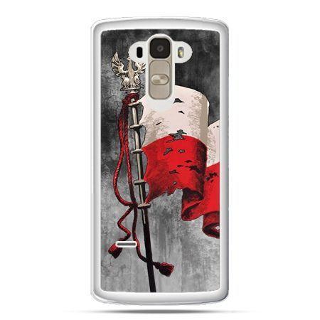 Etui na telefon LG G4 Stylus patriotyczne - flaga Polsk