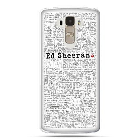 Etui na LG G4 Stylus Ed Sheeran białe poziome