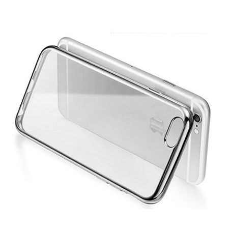 iPhone 6 / 6s silikonowe etui platynowane SLIM kolor srebrny.