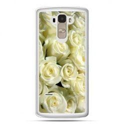 Etui na LG G4 Stylus białe róże