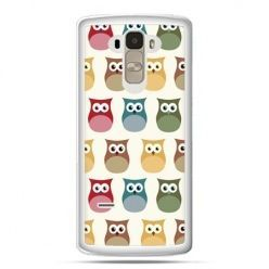 Etui na LG G4 Stylus kolorowe sowy