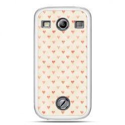 Samsung Xcover 2 etui czerwone serduszka