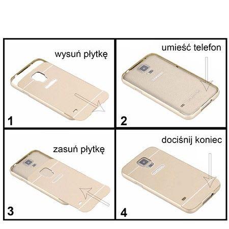 iPhone 6 6s etui aluminium bumper case złoty