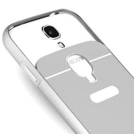 HTC Desire 820 etui aluminium bumper case srebrny
