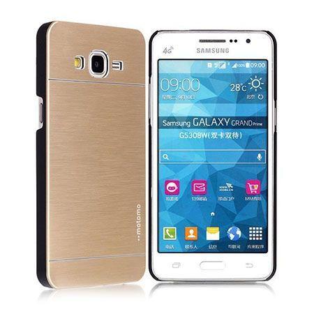 Samsung Galaxy A5 2015 etui Motomo aluminiowe złote.