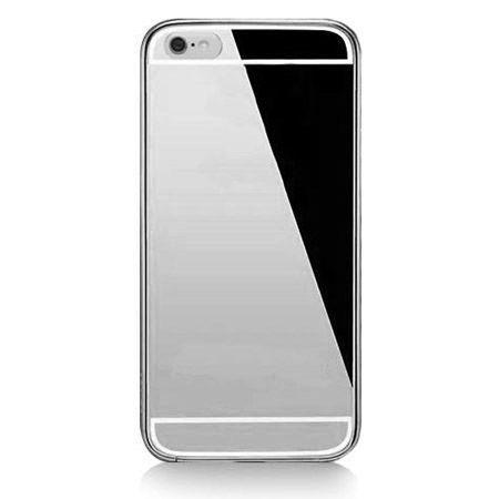 iPhone 6, 6s mirror etui aluminium bumper case srebrny lustro.