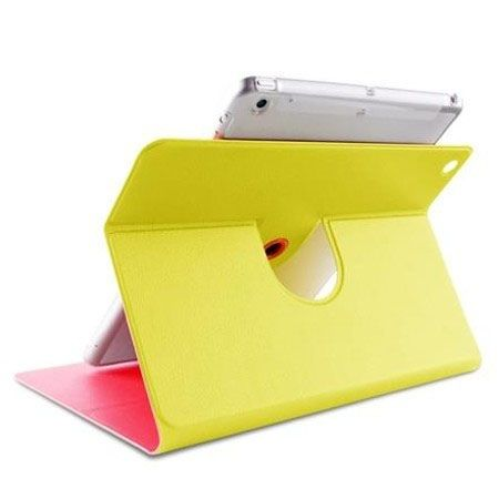 Etui iPad Air PURO Bi-Color 360° Booklet Case - żółty/różowy