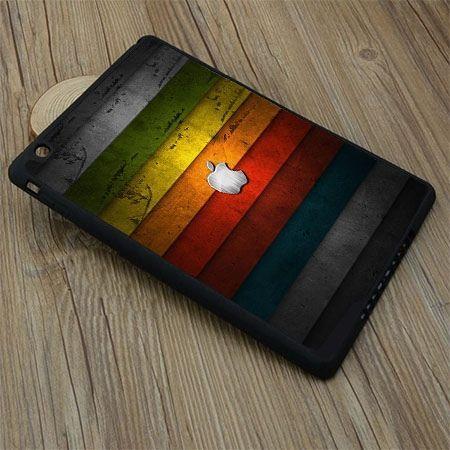 Etui na iPad mini 2 case kolorowe pasy z logo apple