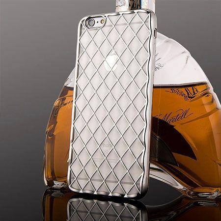 Luksusowe etui Diamonds iPhone 6 Plus silikonowe platynowane tpu srebrne. PROMOCJA !!!