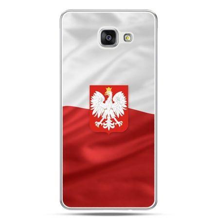 Etui na telefon Galaxy A5 (2016) A510 patriotyczne - flaga Polski z godłem