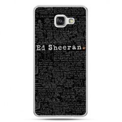 Galaxy A7 (2016) A710, etui na telefon ED Sheeran czarne poziome
