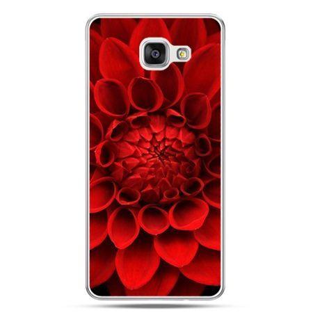 Galaxy A7 (2016) A710, etui na telefon czerwona dalia