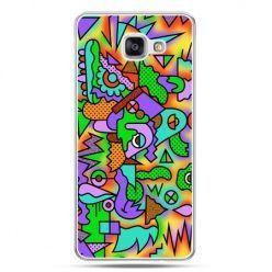 Galaxy A7 (2016) A710, etui na telefon kolorowa abstrakcja