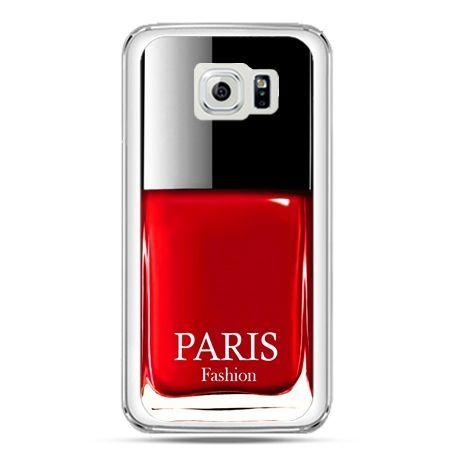 Etui na telefon Galaxy S7 lakier do paznokci czerwony