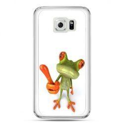 Etui na telefon Galaxy S7 śmiesznaq żaba
