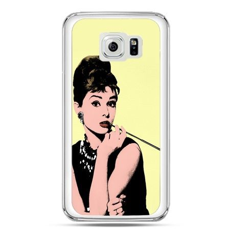 Etui na telefon Galaxy S7 Audrey Hepburn z papierosem