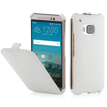 Pokrowiec na HTC One M9 Stilgut Ultraslim z klapką skóra biały.