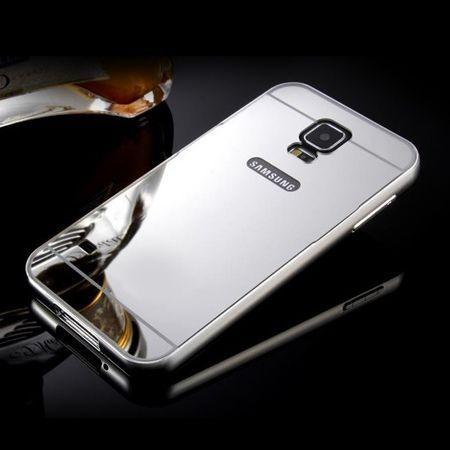 Mirror bumper case na Galaxy S5 Neo - Srebrny
