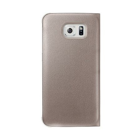 Etui na Samsung Galaxy S7 Edge - flip S-View z klapką - Złoty