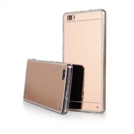 Etui na Huawei P8 mirror - lustro silikonowe etui lustrzane TPU - Rose Gold.