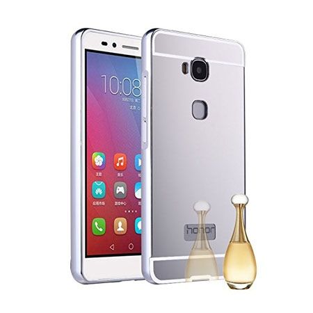 Huawei Honor 5X mirror bumper case - Srebrny