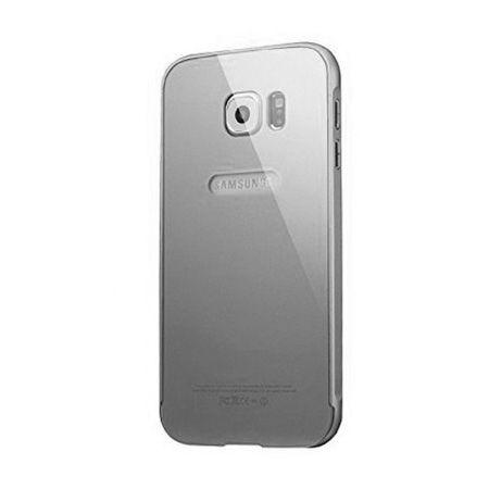 Bumper case na Galaxy S6 Edge - Srebrny