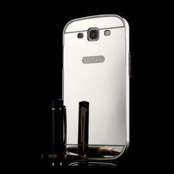 Mirror bumper case na Galaxy S3 - Srebrny