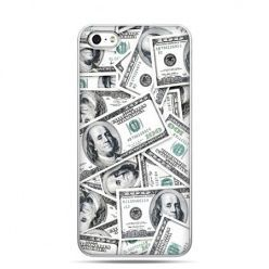 iPhone 5c etui dolary banknoty