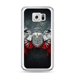 Etui na telefon Galaxy S6 patriotyczne - stalowe godło